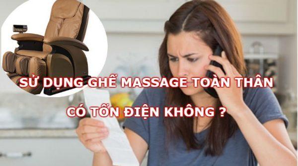 Ghế massage toàn thân có tốn điện không